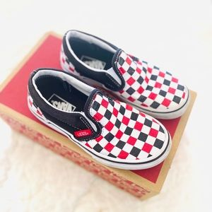 VANS BOYS CHECKERED SHOES SZ 12.5
